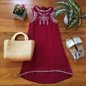 Francesca's Red Embroidered Dress